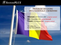 System Plus - partener HP, DELL si EMC in Romania  : Program 1 Decembrie
