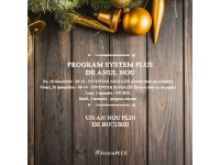 System Plus - partener HP, DELL si EMC in Romania  : Program in perioada 29.12.2016 - 03.01.2017