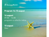 System Plus - partener HP, DELL si EMC in Romania  : PROGRAM 14 - 15 August 2017